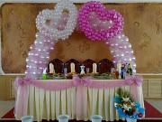 Оформление воздушными шарами, украшение цветами, тканью!